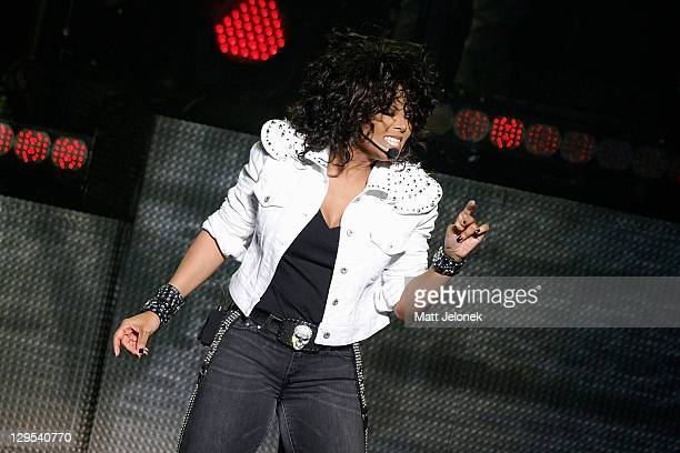 Janet Jackson performs live on stage at the Burswood Theatre on October 18, 2011 in Perth, Australia.