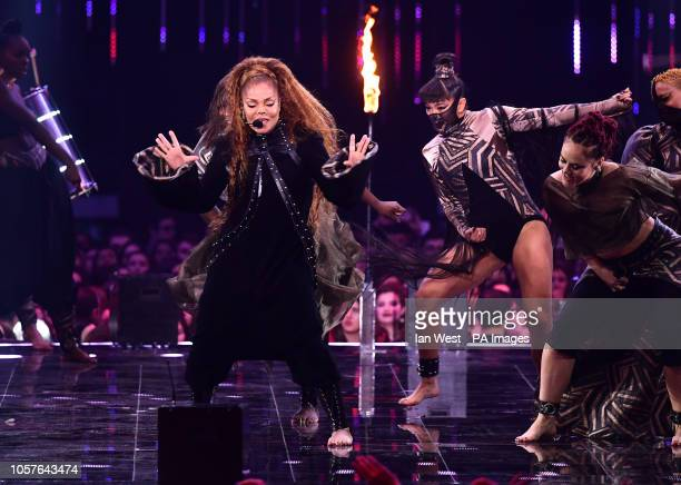 Janet Jackson performs on stage at the MTV Europe Music Awards 2018 held at the Bilbao Exhibition Centre Spain