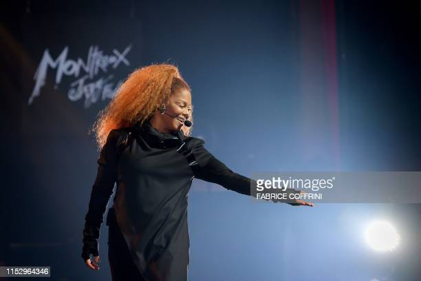 Janet Jackson performs on stage during the 53rd Montreux Jazz Festival on June 30, 2019 in Montreux. / RESTRICTED TO EDITORIAL USE