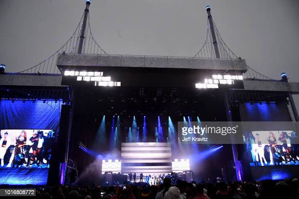 Janet Jackson performs on the Lands End Stage during the 2018 Outside Lands Music And Arts Festival at Golden Gate Park on August 12 2018 in San...