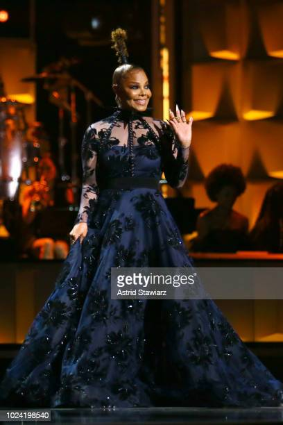 Janet Jackson speaks onstage during the Black Girls Rock 2018 Show at NJPAC on August 26 2018 in Newark New Jersey