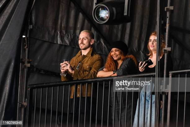 Janet Jackson watches Cardi B's performance during Wireless Festival 2019 on July 05 2019 in London England