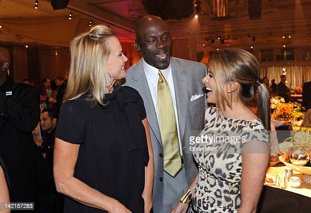 Janet JonesGretzky Charlotte Bobcats owner Michael Jordan and model Yvette Prieto attend the 11th annual Michael Jordan Celebrity Invitational gala...