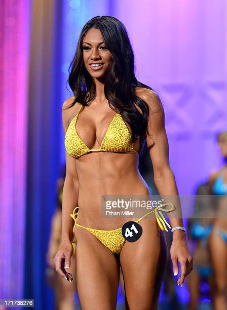 Janet Layug of Orlando Florida competes during the 17th annual Hooters International Swimsuit Pageant at The Joint inside the Hard Rock Hotel Casino...