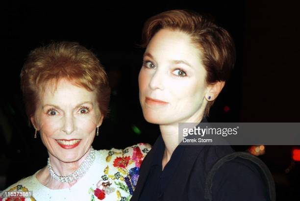 Janet Leigh and daughter Kelly Curtis during Janet Leigh Sighting November 1 1996 at Huntington Hilton in Huntington NY United States