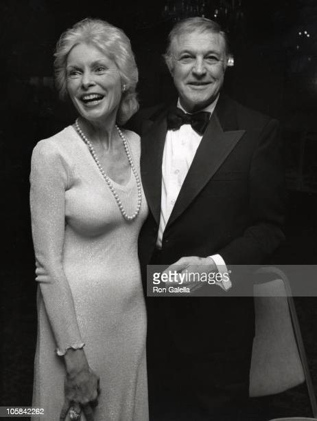 Janet Leigh and Gene Kelly during LA Film Teachers Honor Gene Kelly at Sportsman's Lodge in Los Angeles California United States
