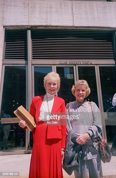 Janet Leigh and June Allyson outside the Avery Fisher Hall circa 1990 New York