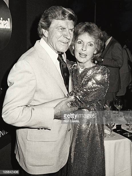 Janet Leigh and Robert Preston during People Magazine's First Decade Celebration at Lincoln Center in New York City New York United States