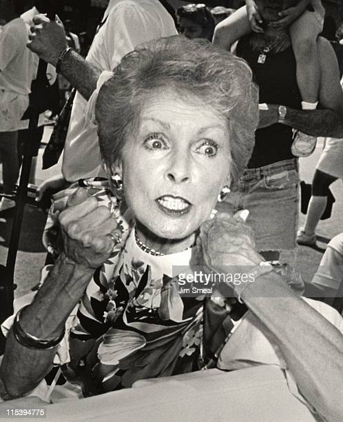 Janet Leigh during Grand Opening Of Universal Studios New Theme Park Attraction June 7 1990 at Universal Studios in Orlando Florida United States