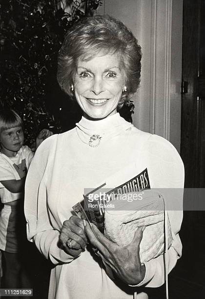 Janet Leigh during Party Honoring Kirk Douglas and His New Book The Ragman's Son at Chasen's Restaurant in Beverly Hills California United States