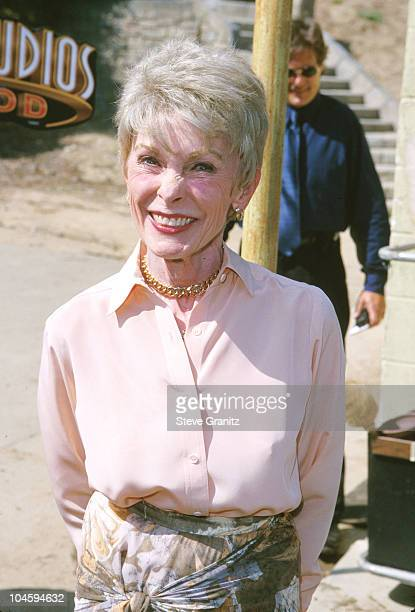 Janet Leigh during Winner Sue Pelinski First Person in 40 Years to Shower in the Bates Motel Room at Universal Studios in Universal City, California,...