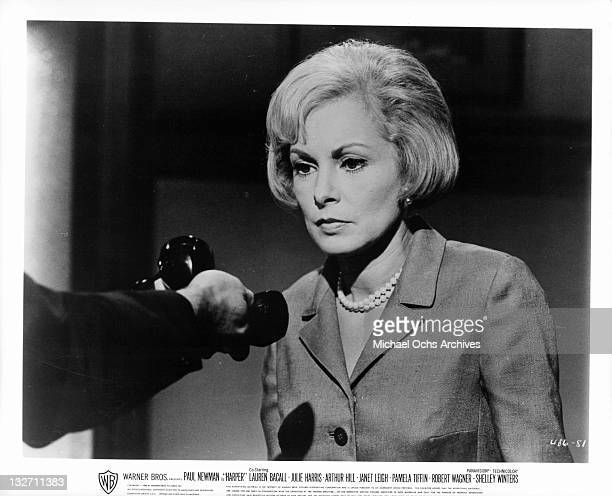 Janet Leigh portrays Paul Newman's wife in a scene from the film 'Harper' 1966