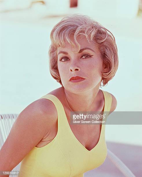 Janet Leigh US actress wearing a yellow vest top circa 1960