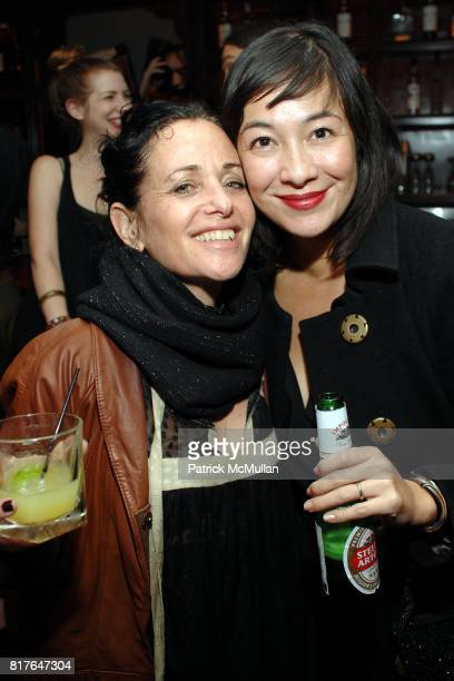 Janet Levy and Amanda Fairey attend Creem Magazine Hosts 'Mick Rock Exposed' After Party at 1902 on December 16 2010 in Los Angeles California