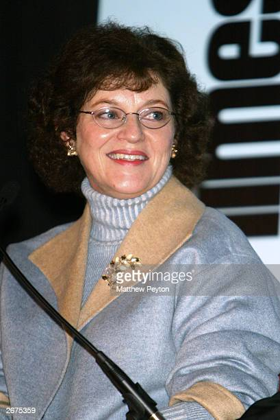 "Janet Maslin of The New York Times moderates the TimesTalks event ""Book To Screen"" at the Gramercy Theater October 28, 2003 in New York City. The..."