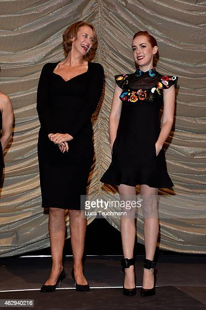 Janet McTeer and Jena Malone attends the 'Angelica' premiere during the 65th Berlinale International Film Festival at Zoo Palast on February 7 2015...