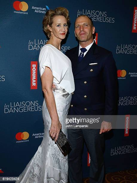 Janet McTeer and Joe Coleman attend Les Liaisons Dangereuses Opening Night after party at Gotham Hall on October 30 2016 in New York City