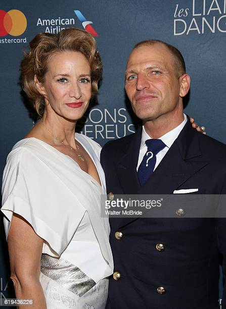 Janet McTeer and Joe Coleman attend the Broadway Opening Night Performance After Party for 'Les Liaisons Dangereuses' at Gotham Hall on October 30...