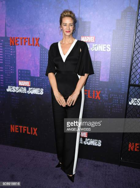 Janet McTeer attends Netflix's 'Marvel's Jessica Jones' Season 2 Premiere at AMC Loews Lincoln Square on March 7 2018 in New York / AFP PHOTO /...