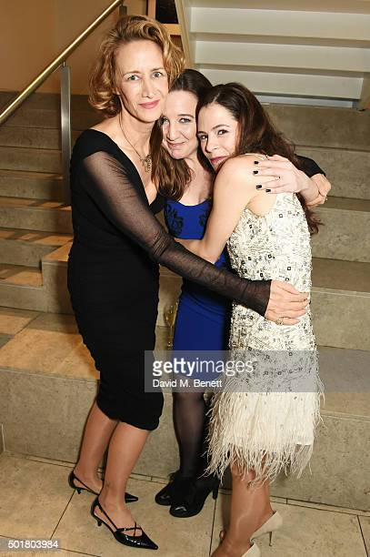Janet McTeer Josie Rourke and Elaine Cassidy attend an after party following the press night performance of the Donmar's Les Liaisons Dangereuses at...