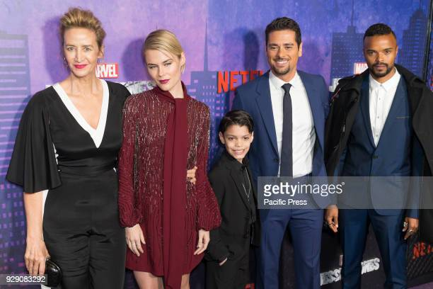 Janet McTeer Rachael Taylor Kevin Chacon JR Ramirez Eka Darville attend Marvel Jessica Jones Season 2 Premiere at AMC Loews Lincoln Square