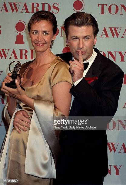 Janet McTeer winner Best Leading Actress for A Doll's House with Alec Baldwin during the Tony Awards at Radio City Music Hall