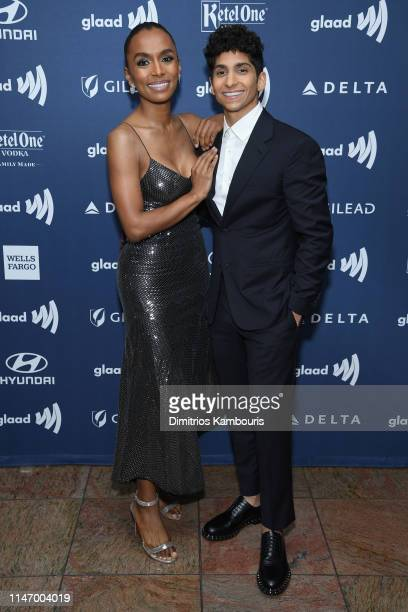 Janet Mock and Angel Bismark Curiel attend the 30th Annual GLAAD Media Awards New York at New York Hilton Midtown on May 04 2019 in New York City