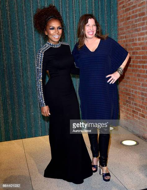 Janet Mock and Anne Pasternak attend The Brooklyn Artists Ball 2017 at Brooklyn Museum on April 3 2017 in New York City