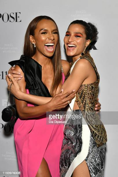Janet Mock and Indya Moore attend FX Network's Pose season 2 premiere on June 05 2019 in New York City