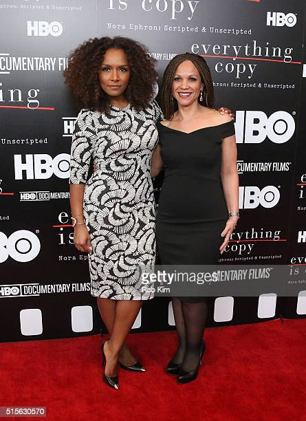 Janet Mock and Melissa HarrisPerry attend the New York Special Screening of Everything Is Copy Nora Ephron Scripted Unscripted at The Museum of...
