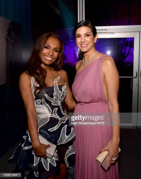 Janet Mock and Vanity Fair Editor-in-Chief Radhika Jones attend the 2020 Vanity Fair Oscar Party hosted by Radhika Jones at Wallis Annenberg Center...