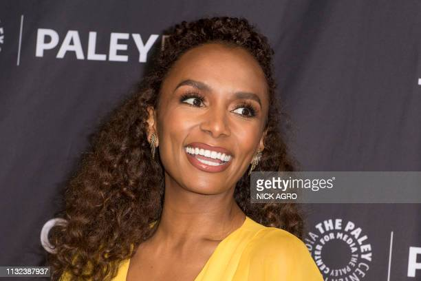 Janet Mock arrives for Paley Center for Media's 2019 PaleyFest LA panel and screening of 'Pose' on March 23 2019 at the Dolby Theater in Hollywood