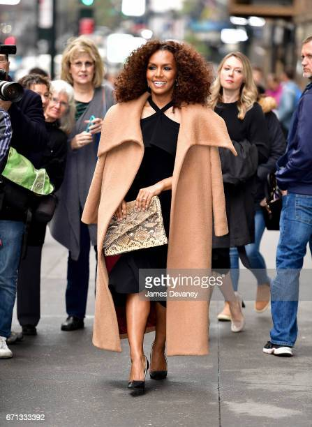Janet Mock arrives to Variety's Power of Women New York luncheon at Cipriani Midtown on April 21 2017 in New York City