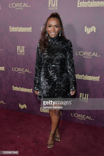Janet Mock attends the 2018 PreEmmy Party hosted by Entertainment Weekly and L'Oreal Paris at Sunset Tower on September 15 2018 in Los Angeles...