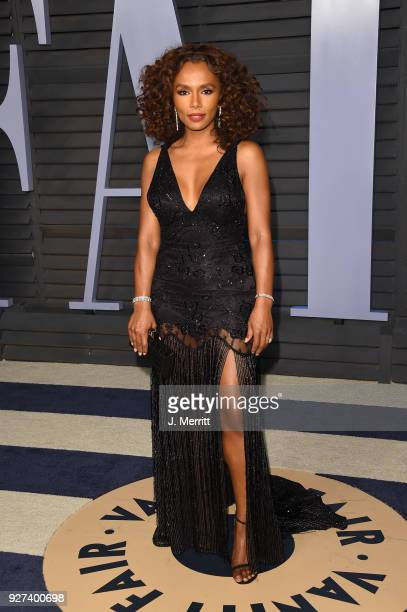 Janet Mock attends the 2018 Vanity Fair Oscar Party hosted by Radhika Jones at the Wallis Annenberg Center for the Performing Arts on March 4 2018 in...