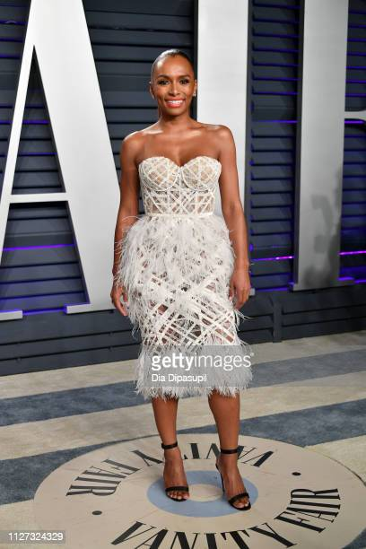 Janet Mock attends the 2019 Vanity Fair Oscar Party hosted by Radhika Jones at Wallis Annenberg Center for the Performing Arts on February 24 2019 in...