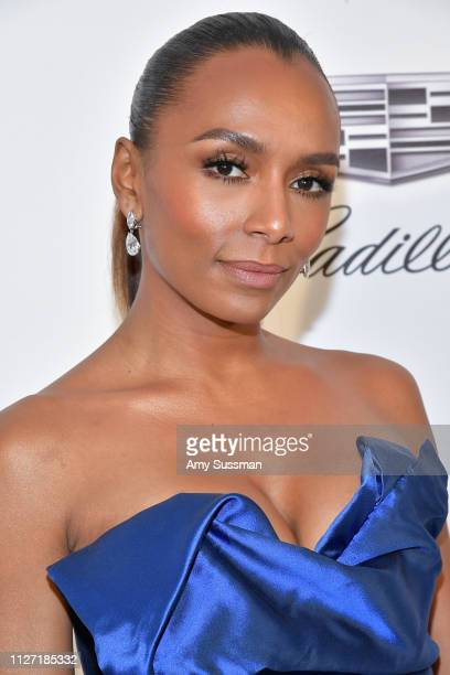 Janet Mock attends the 27th annual Elton John AIDS Foundation Academy Awards Viewing Party celebrating EJAF and the 91st Academy Awards on February...