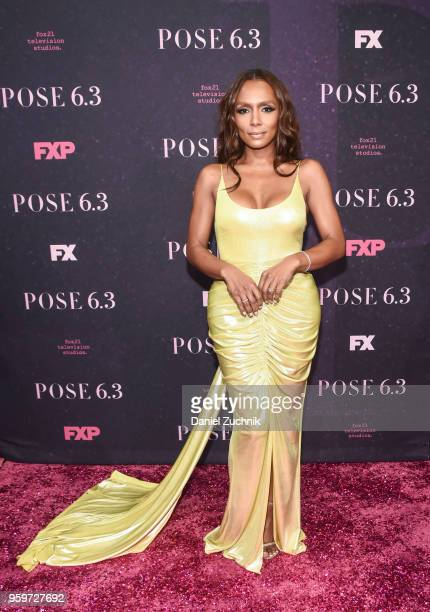Janet Mock attends the New York premiere of FX series 'Pose' at Hammerstein Ballroom on May 17 2018 in New York City