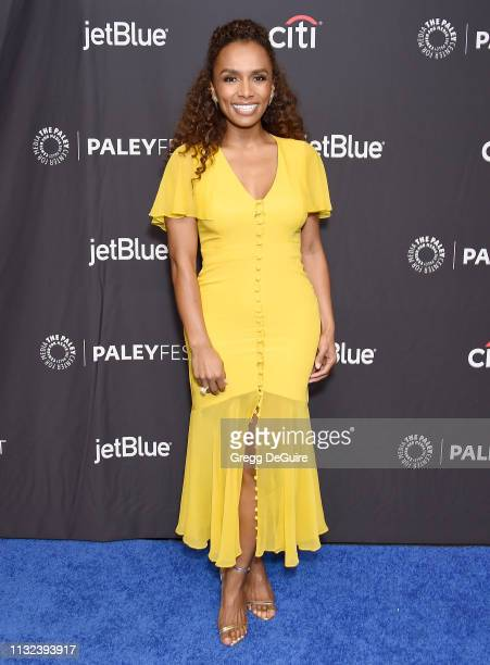 Janet Mock attends The Paley Center For Media's 2019 PaleyFest LA Pose at Dolby Theatre on March 23 2019 in Hollywood California