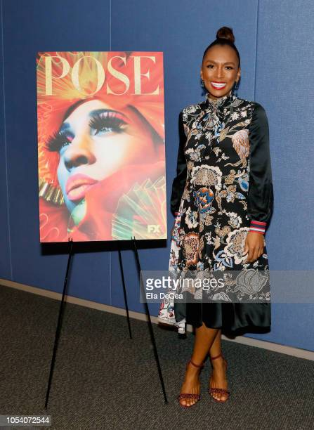 Janet Mock attends The Writers Guild Of America West's Black Latino And LGBTQ Committees Present A Panel And Screening For FX's Pose at Writers Guild...