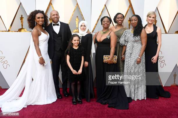 Janet Mock Kaia Burke Tarana Burke and attend the 90th Annual Academy Awards at Hollywood Highland Center on March 4 2018 in Hollywood California