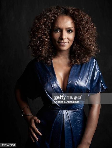 Janet Mock poses for a portrait at Logo's Trailblazer Honors on June 23 in the Cathedral of St John the Divine in New York City
