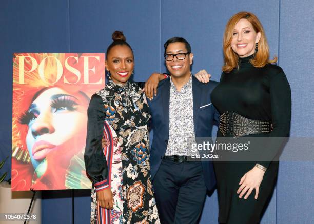 Janet Mock Steven Canals and Our Lady J attend The Writers Guild Of America West's Black Latino And LGBTQ Committees Present A Panel And Screening...