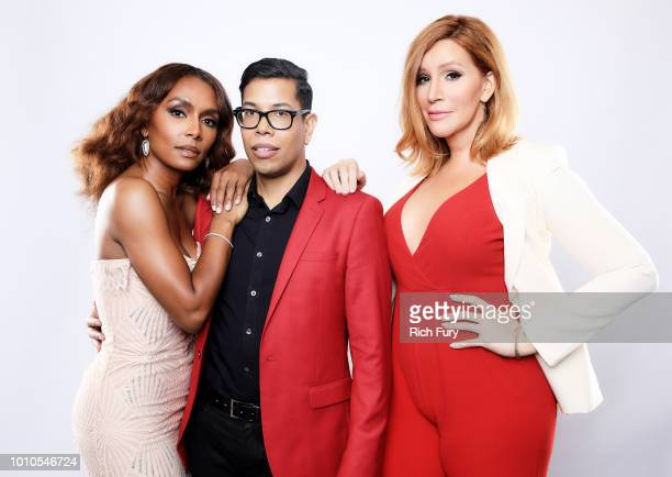 Janet Mock Steven Canals and Our Lady J of FX's 'Pose' pose for a portrait during the 2018 Summer Television Critics Association Press Tour at The...