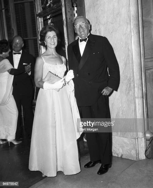Janet Norton Lee Bouvier mother of Jacqueline Kennedy Onassis with her husband Hugh D Auchincloss at the Elizabeth Arden International Ball in...