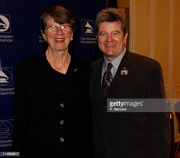 Janet Reno and Daniel Carlin during GRAMMY Entertainment Law Initiative February 11 2005 at Regent Beverly Wilshire Hotel in Beverly Hills CA United...