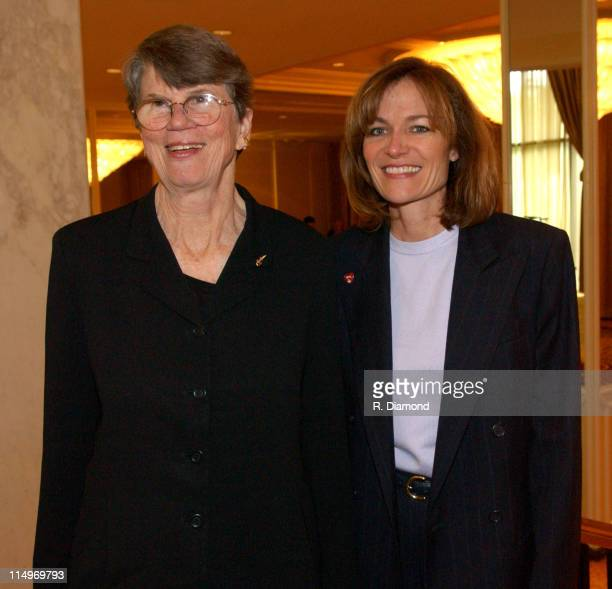 Janet Reno and Kristen Madsen during GRAMMY Entertainment Law Initiative February 11 2005 at Regent Beverly Wilshire Hotel in Beverly Hills CA United...