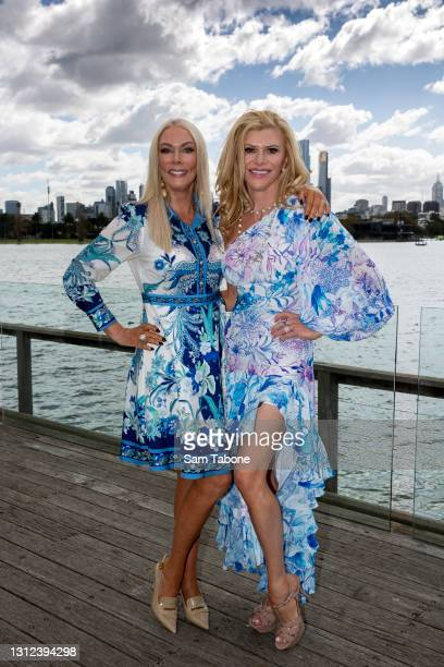 Janet Roach and Gamble Breaux attends the cast announcement for The Real Housewives of Melbourne season 5 on April 14, 2021 in Melbourne, Australia.