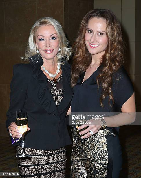 Janet Roach and Jackie Gillies from The Real Housewives of Melbourne arrive at the Wella Professionals Royal Children's Hospital Spring Fashion...