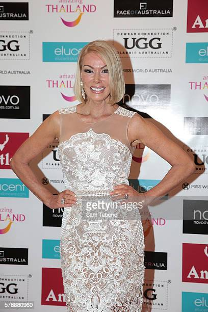 Janet Roach during the Miss World Australia 2016 National Final at Crown Palladium on July 22 2016 in Melbourne Australia